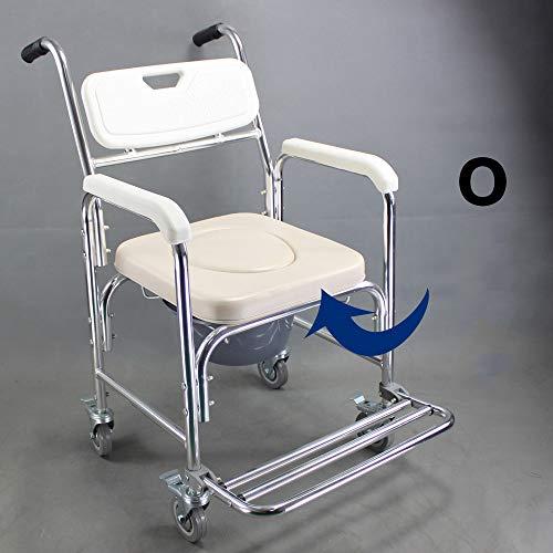 WG Toilettensitz Stuhl Ältere Menschen Bad Dusche mit Armlehnen Rückenlehne Toilettenstühle Duschstuhl Schwangere Frauen Spa Bank Bad Stuhl,B - Für ältere Stuhl Dusche Menschen