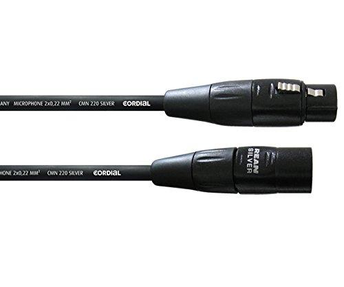 CORDIAL CIM 5 FM   CABLE PARA XLR (MACHO/HEMBRA  5 M)  COLOR NEGRO