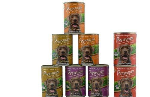 Premium Best Food Cani Cibo umido Probemix (Agnello,Pollo,Selvaggio), 2 Lattine/varietà + 2x Manzo extra, totale 8 x 0. 41kg Tester, Made in Europa