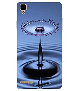 Snazzy Water Drop Printed Blue Hard Back Cover For Oppo F1 Selfie