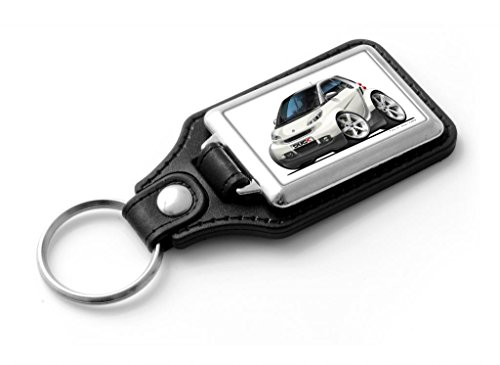 wickedartz-cartoon-car-smart-fortwo-white-classic-style-key-ring