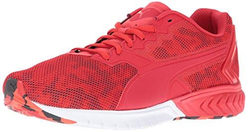 Puma Ignite Dual Camo Synthétique Chaussure de Course High Risk Red