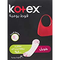 Kotex Everyday Panty Liners Long lightly scented 30 Liners