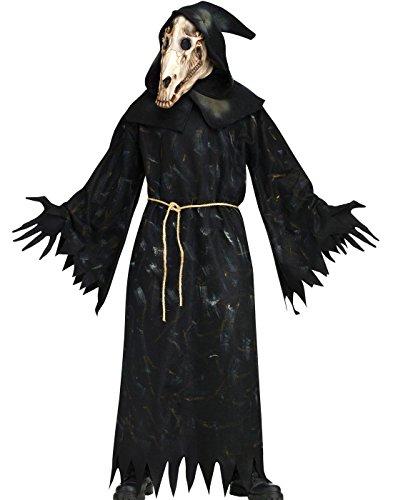 Fun World Demon Horse Skull Robe Costume Standard (Dämon Kostüm Pferd)