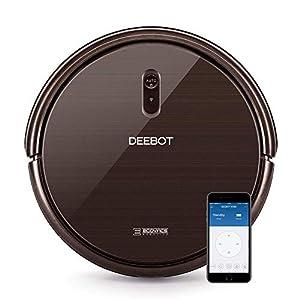 Ecovacs Deebot N79S - Robot Aspirador navegación aleatoria, control por App y Alexa, Wifi, 4 modos de limpieza, 2 niveles de succión, suelos duros y alfombras, detecta obstáculos y desniveles, negro