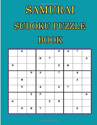 Samurai Sudoku Puzzle Book: 360 Hard Puzzles overlapping into Samurai Style por Aern tad