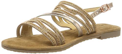 Tamaris Damen 1-1-28116-22 Riemchensandalen, Gold (Copper 901), 38 EU