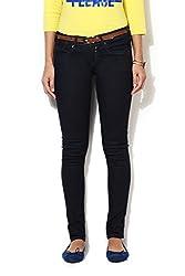 Allen Solly Womens Slim Jeans (AWDN316C05718_Medium Blue Solid_28)