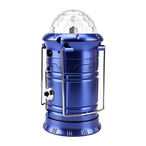 3-in-1led Camping Licht Laterne & tragbar Survival Outdoor Lampe, Taschenlampen, buntes lighting-lantern, USB-Ausgang, zusammenklappbar, blau Kerze Hurricane Lantern