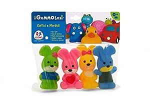 Globo Toys Globo - 36739 Vitamina_G Gommolosi Juguete de Conejos (4 Piezas)