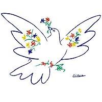 Kunstdruck 'Friedenstaube (blau)', von Pablo Picasso, Größe: 71 x 56 cm