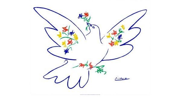 Kunstdruck D Art Die Friedenstaube von Pablo Picasso Gre