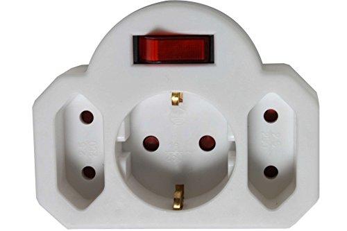 3fach Stecker mit Schalter Steckdose Kindersicherung Strom S