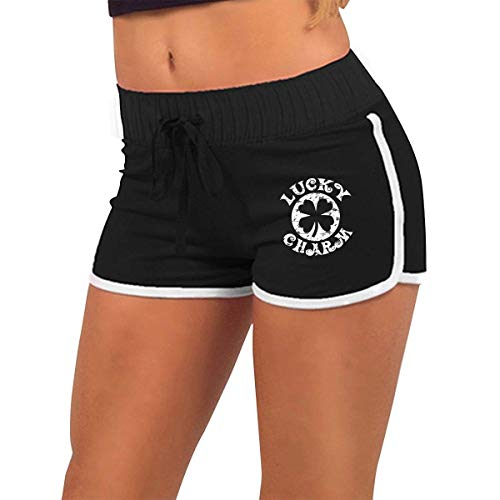 Kostüm Sexy Charm Lucky - Vintage St Patricks Day Lucky Charm Women's Sexy Shorts Fashion Beach Hot Shorts L