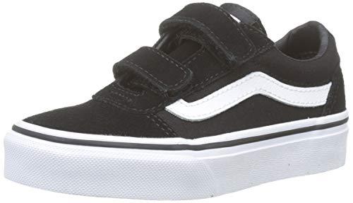 Vans Ward V-Velcro, Zapatillas Niños, Negro Suede/Canvas