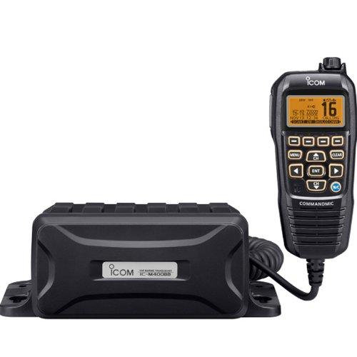 Icom VHF, Black Box w/Grey CommandMic IV Icom-m400bb Black Box
