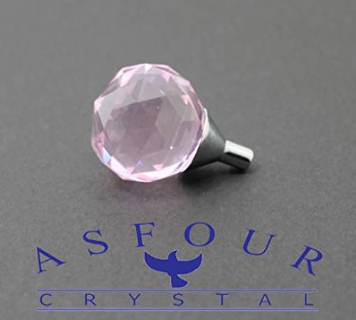 Pomello In Cristallo Asfour Colore Rosa 4 Pezzi