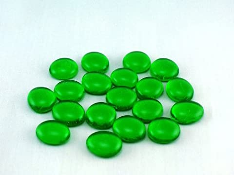 Ullmannglass Lot de pierres décoratives en verre Vert 200g