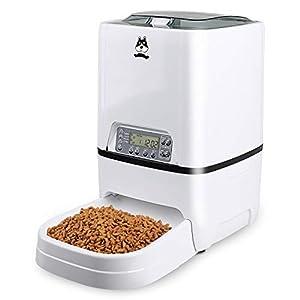 Gohiking Mangeoire pour Animaux de Compagnie de 6,5 L, Chargeur Automatique de Chats |Distributeur Automatique programmable de Nourriture pour Chien