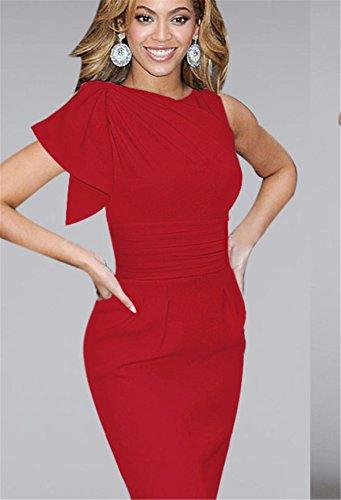 YOGLY Damen Kleider Bodycon Dress Summer Kurzarm Sommer Abendkleid ...