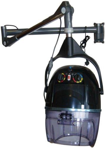 FIGARO Trockenhaube Haartrockner mit Wandarm, Zeitschaltuhr und Temperaturregelung Farbe schwarz