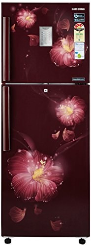 Samsung 253L 4 Star Frost Free Double Door Refrigerator (RT28M3954R3/HL, Rose Mallow Plum, Convertible, Inverter Compressor)