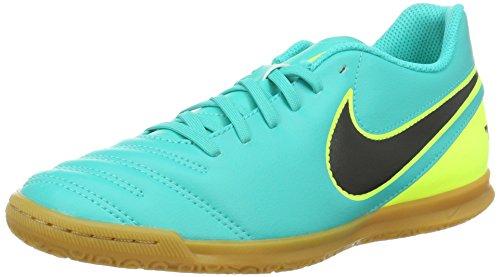 Nike Herren Tiempox Rio Iii IC Fußballschuhe, Weiß, 41 EU, Mehrfarbig (Clear Jade/Black/Volt), 44 EU
