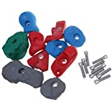 Fenteer 10 Pieces / Set Assorted Rock Climbing Holds Foot Hand Holds With Installation Hardware Screw Bolt - Universal Kids Adult Swing Set Equipment