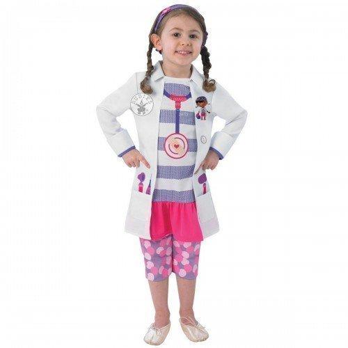 (Mädchen Disney Doc Mcstuffins Arzt Pflegepersonal Büchertag Kostüm Kleid Outfit 18 Monate 6 Jahre - Weiß, Weiß, 3-4 Years)