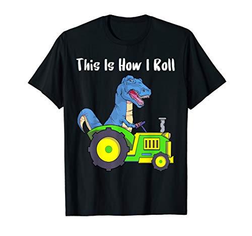 So rolle ich Landwirt und Viehzüchter Traktor T Rex Shirt  T-Shirt