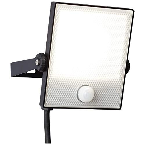 LED Außenwandstrahler 16cm mit Bewegungsmelder, 1x 20W LED integriert, 1x 1600 Lumen, 4000K, Metall/Kunststoff, schwarz (20x20 Metall Carport)