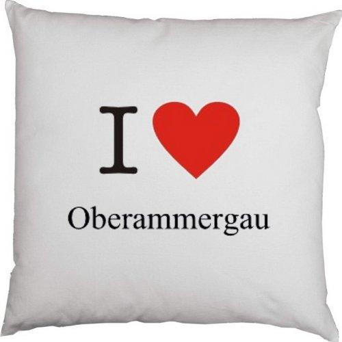 Kissen mit Füllung, Dekokissen, Couchkissen, Deko mit Herz - I love Oberammergau