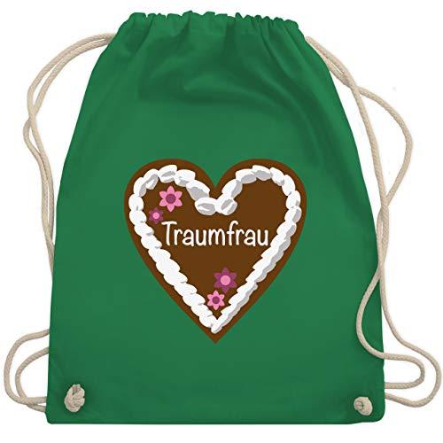 Valentinstag - Lebkuchenherz Traumfrau - Unisize - Grün - WM110 - Turnbeutel & Gym Bag