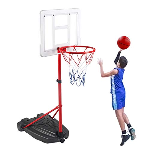 Transportable Korbanlagen Tragbare Basketballkorb-System für Teens, Einstellbare Höhe 3.9-7.9ft, Indoor Outdoor Freistehende Spiele Backboard-Nettoball