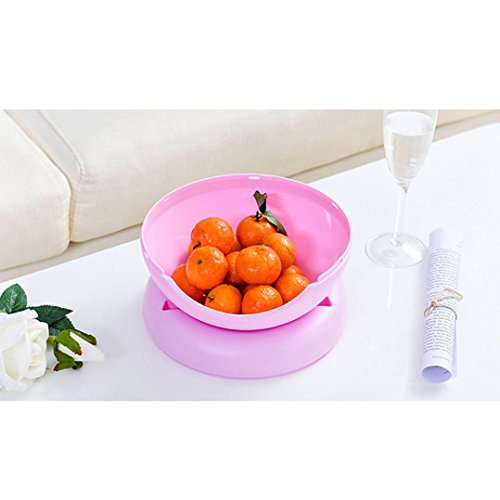 Boîte De Rangement De Bureau Créative Rawdah Coffres De Rangement et Caisse Bol De Forme Créative Parfait Pour Les Noix De Graines Et La Boîte De Stockage de Fruits Secs (Rose)