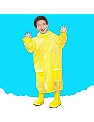 Imperméable pour enfants Poncho unique Enfant garçon étudiant imperméable Avec sacs Pouce