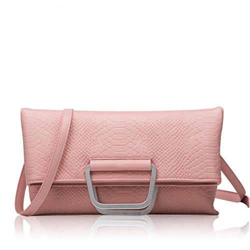 GBT Art- und Weiseschulter-Beutel-Handtaschen-Leder-Handtasche Pink