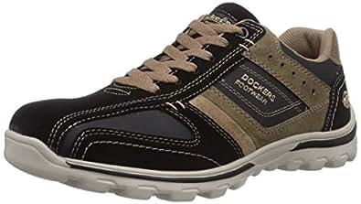 Dockers by Gerli  36DG002-204142, Sneakers basses homme - Noir - Schwarz (schwarz/stone 142), Taille 40 EU
