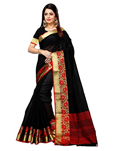 Vahni Women's Cotton Silk Saree With Blouse Piece Material