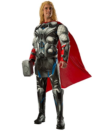 Of Avengers Ultron Age Kostüme (Thor Deluxe Kostüm, Herren Avengers Age of Ultron Outfit, Standard, Brust 111,8 cm Taille 76,2–86,4 cm Hosenlänge)