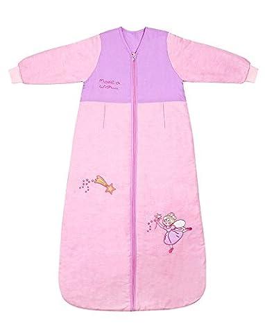 Schlummersack Kinder Winterschlafsack Langarm 3.5 Tog - Pink Fairy - 150 cm/6-10 Jahre