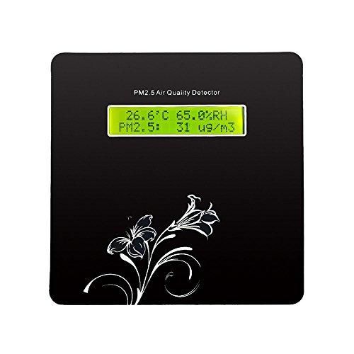 KKmoon Hohe Genauigkeit LCD Digital PM2.5 Luftqualität Detektor PM1.0 PM10 Partikelkonzentration Sensor Temperatur-Feuchte-Messgerät Umweltüberwachung