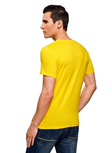 oodji Ultra Herren T-Shirt mit Sommerdruck Gelb (5270P) ...
