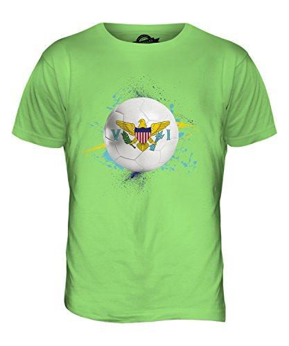 CandyMix Isole Vergini Americane Calcio T-Shirt da Uomo Maglietta Verde Lime