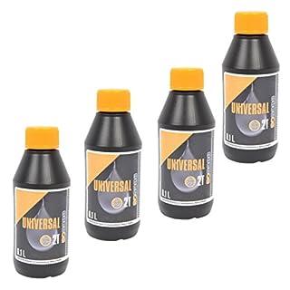 spares2go Universal Mini 2Takt-Öl für McCulloch Kettensägen (100ml) 4 Stück