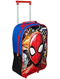 Spiderman Trolley, Kids Luggage Travel Suitcase Carry on Cabin Holiday Pull Along Bag, Multi Colour