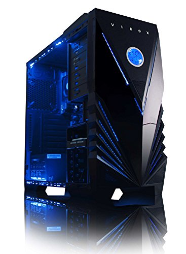 Vibox Black-Ice LA8-8 PC da Gaming, A8-9600, 4 GB, HDD 4000 GB, Azzurro