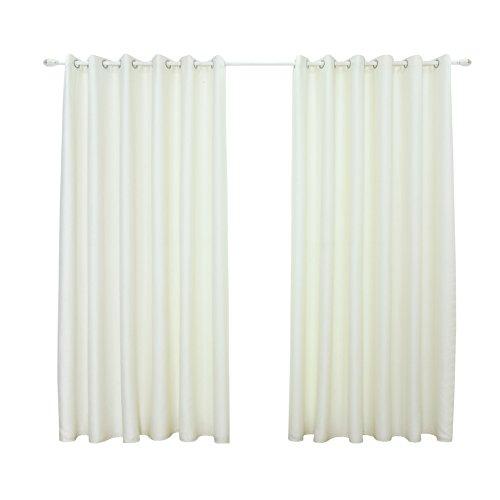 pu ran Farbe Sheer Verdunklung Blackout Schatten Fenster Vorhang Home Schlafzimmer Fenster Decor, weiß, Einheitsgröße (Windows Für Blackout-schatten)