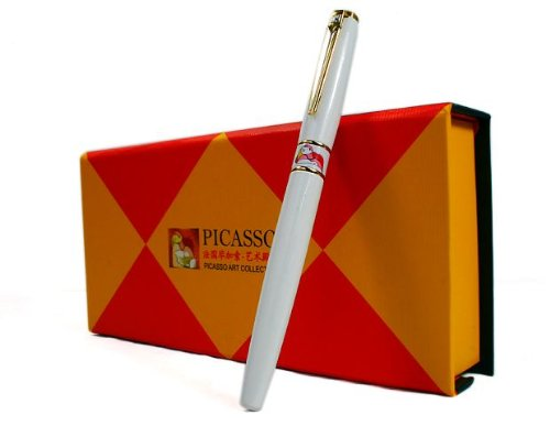 new-picasso-show-off-art-pure-white-rollerball-pen