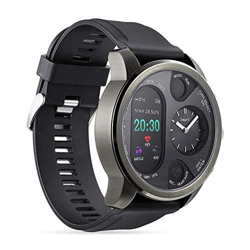 OJBDK Reloj Deportivo híbrido Inteligente Reloj Acero